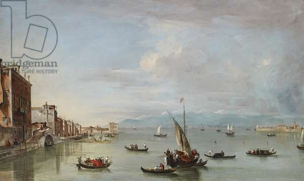 Venice: the Fondamenta Nuove with the Lagoon and the Island of San Michele, c.1758 (oil on canvas)