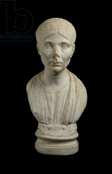 Cast of portrait bust of a woman, from Dresden, original dated 1st half of the 2nd century AD (plaster)