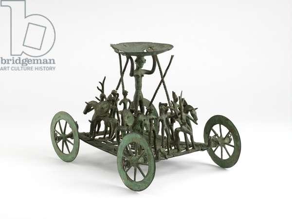 Facsimile of Early Iron Age Strettweg wagon model (copper alloy)