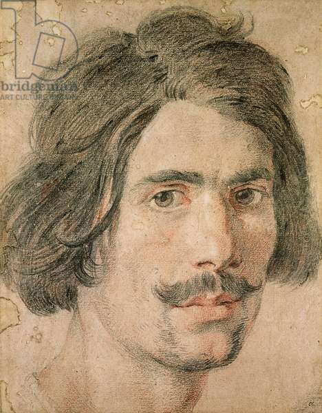 Portrait of the Artist, 17th century (coloured chalks on paper)