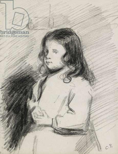 Portrait of Ludovic-Rodo Pissarro (1878-1952), c. 1883 - 1884 (black chalk)