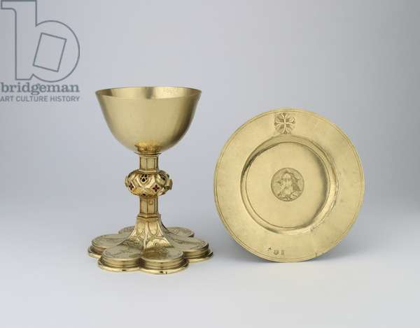 Chalice and paten, 1507-08 (gold with enamel)