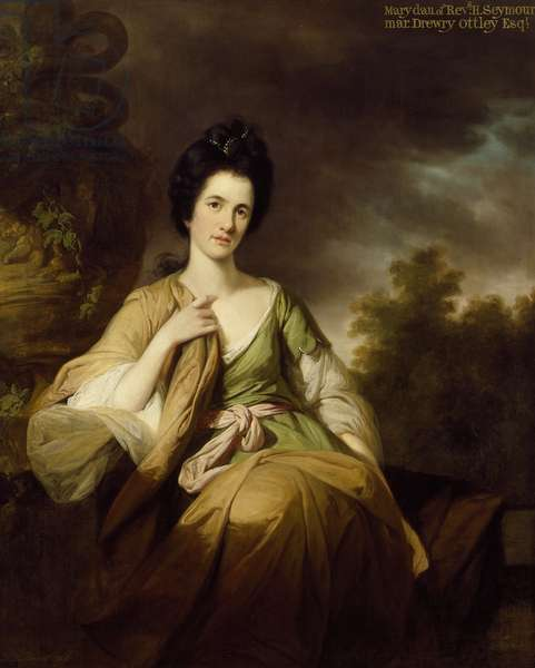 Mrs Drewry Ottley, 1768 (oil on canvas)