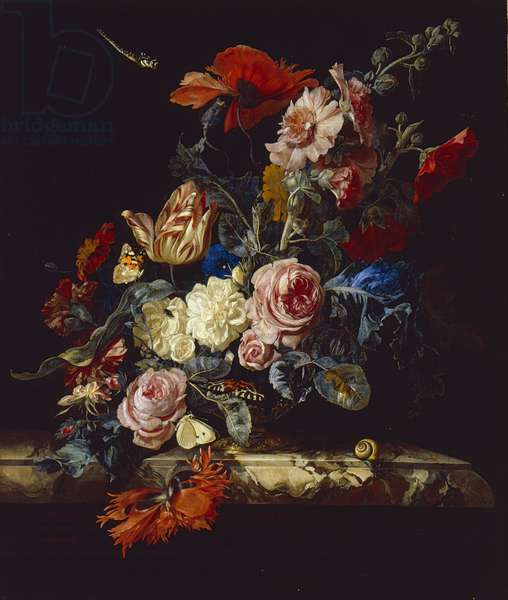 A Vase of Flowers, 1663 (oil on canvas)