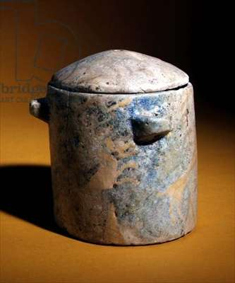 Container, Iran, c.700 BC (painted and glazed earthenware)