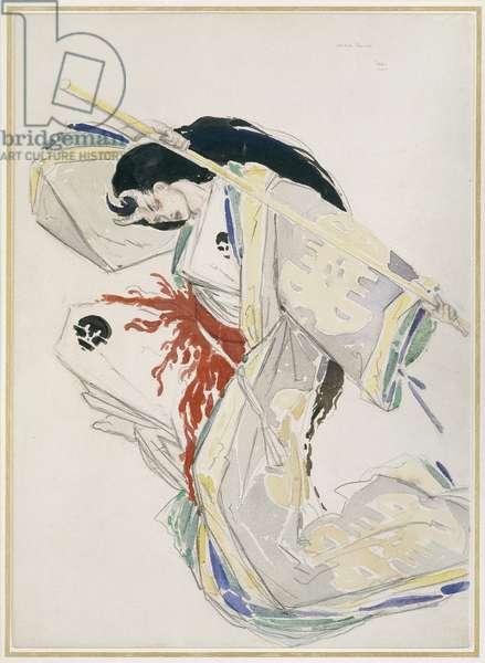 Costume Design (watercolour over graphite on off-white card)