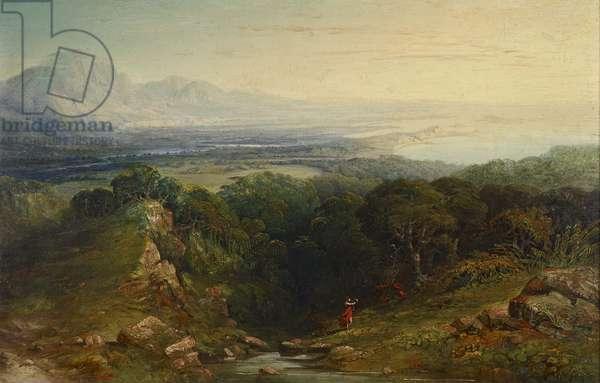 The Isle of Man, 1848 - 1854 (oil on mahogany panel)