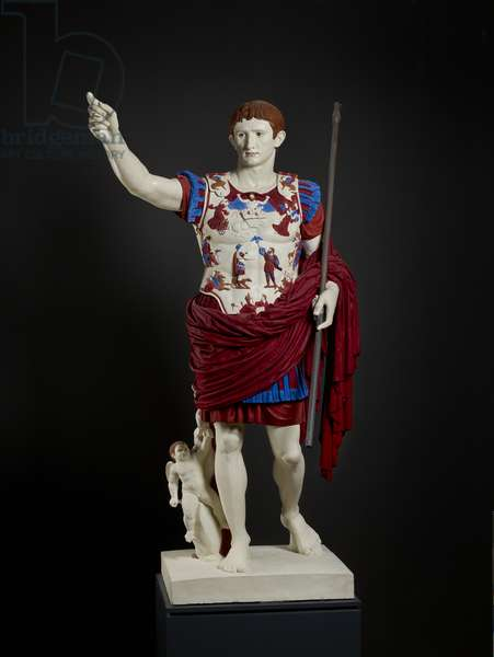 Cast of Augustus of Prima Porta, original dated 20 BC (plaster)