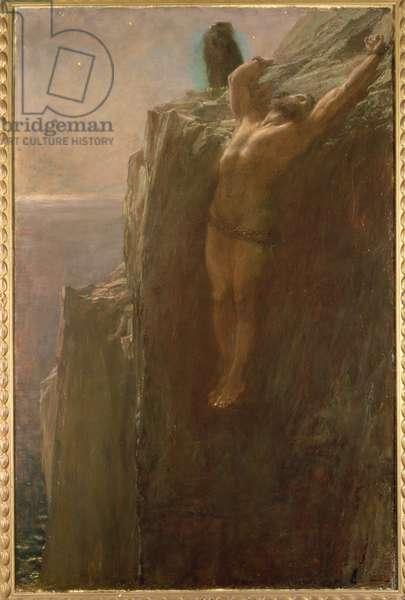 Prometheus Bound, 1889 (oil on board)