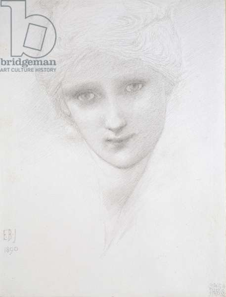 Head of a Woman, 1890 (pencil on paper)