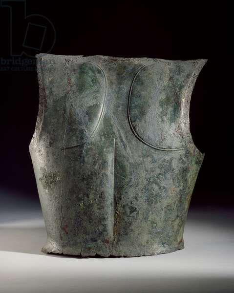 Backplate of a cuirass, found in the Dalboki Tomb (bronze)