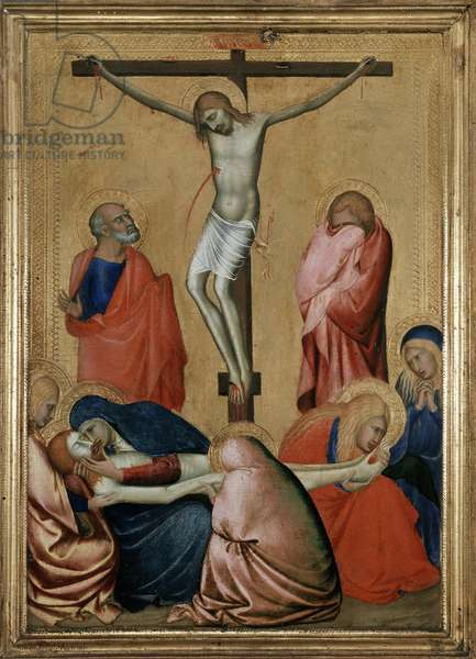 The Crucifixion and the Lamentation (oil on panel)