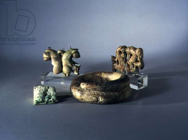 Group of Ivories from near Tivoli, Rome, early 7th century BC (ivory)