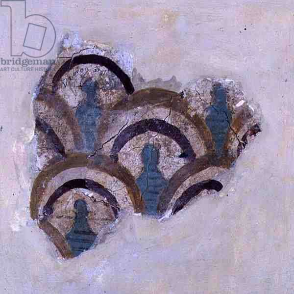Spiral band and flowers from Knossos, Crete, c.1500 BC (fresco)