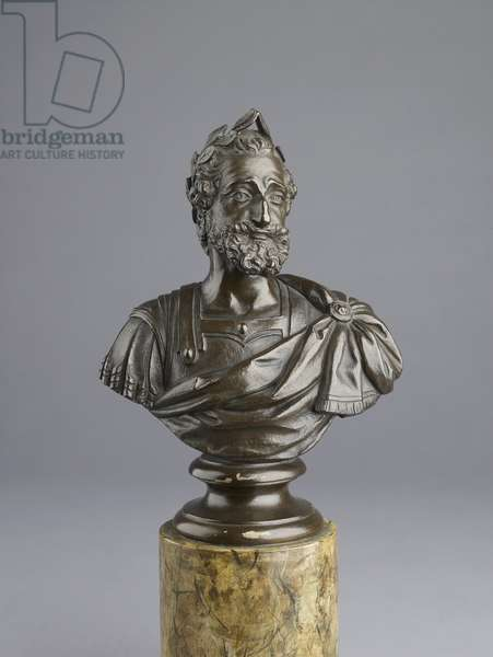 Bust of King Henri IV of France, 18th century (bronze)