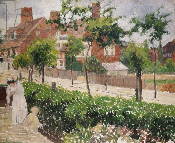Bedford Park, Bath Road, London, 19th century (oil on canvas)