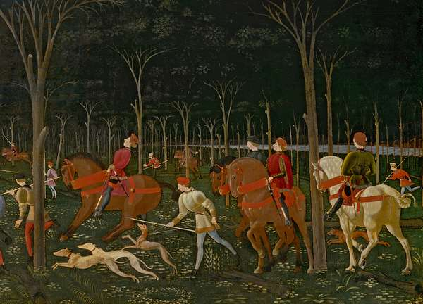 The Hunt in the Forest, c.1465-70 (oil on panel) (detail of 100861)