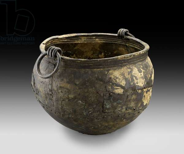 Cauldron, from Shipton on Cherwell, Oxfordshire, 7th century BC (sheet bronze)