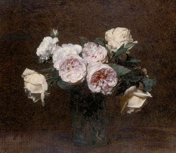 Still Life: pink, white and yellow Roses, 1894 (oil on canvas)