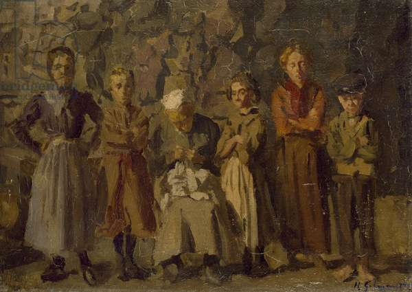 Cave Dwellers, Dieppe, 1907 (oil on canvas)