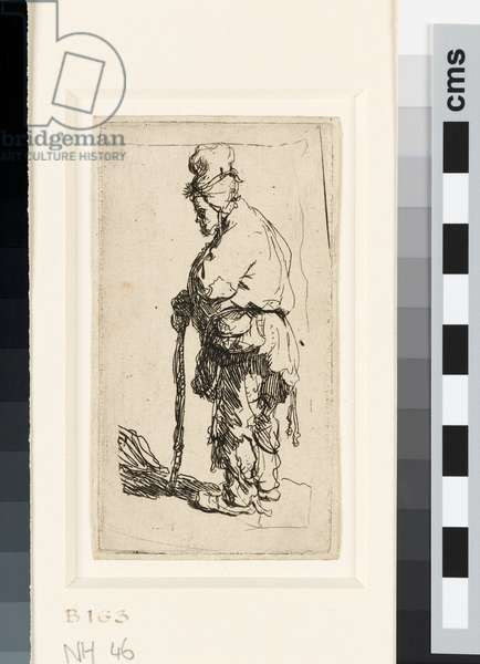 Beggar leaning on a stick, c.1630 (etching)