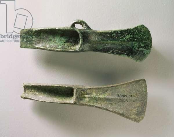 Axes, Bampton, Oxfordshire, Bronze Age (bronze)