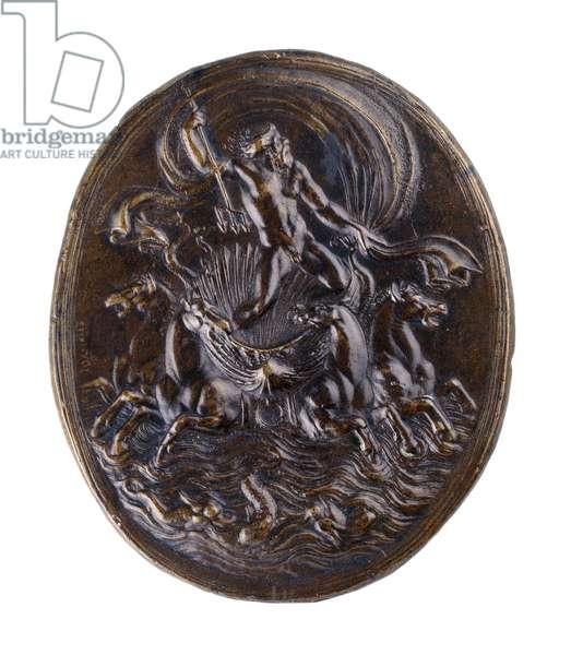 Neptune in his Chariot (Quos Ego), c.1530-1540 (bronze)