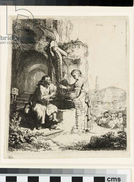 Christ and the Woman of Samaria among Ruins, 1634 (etching)