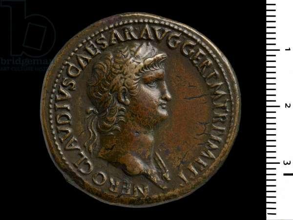 Coin depicting Emperor Nero, 64 (brass)