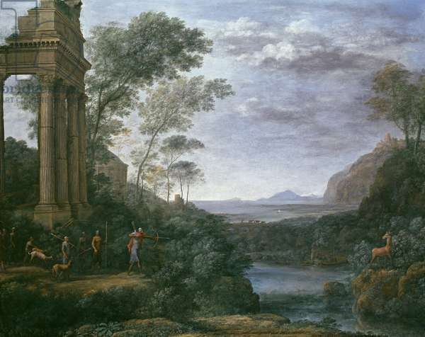 Landscape with Ascanius Shooting the Stag of Sylvia, 17th century (oil on canvas)