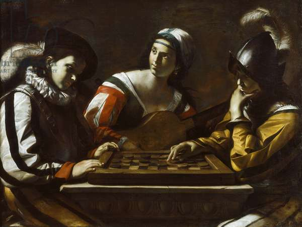 The Game of Draughts, 1630s (oil on canvas)