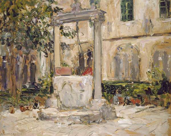 Cloister of the Dominican Monastery, Dubrovnik (oil on panel)