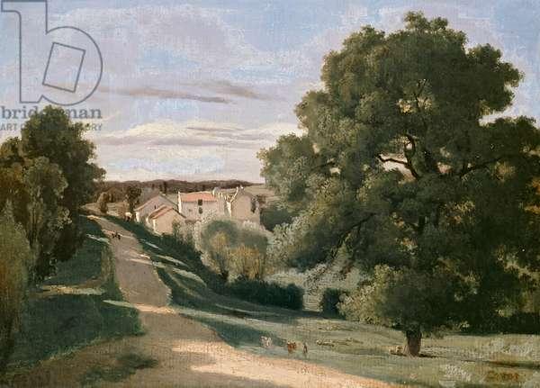 Landscape: Le Petit Charville, near Ville d'Array, 19th century (oil on canvas)