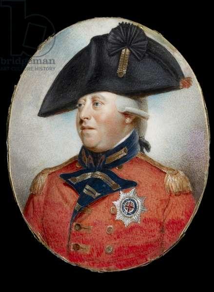 Portrait of King George III (w/c on ivory)