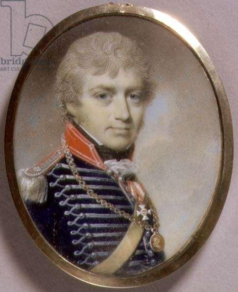 Portrait Miniature of Sir Charles Burrell Blunt (b.c.1775) 1798 (w/c on ivory)