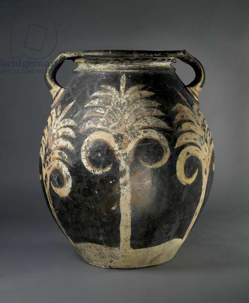 Pithos Amphora decorated with Palm Trees, from Knossos, late Minoan, c.1500 BC (painted earthenware)