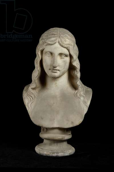 Cast of bust of a barbarian, from Berlin, original dated 1st century AD (plaster)