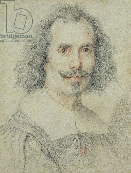 The So-called Self Portrait, 17th century (coloured chalks on paper)
