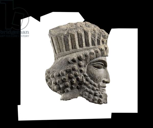 Sculpture of the head of a Persian, 500-450 BC (stone)