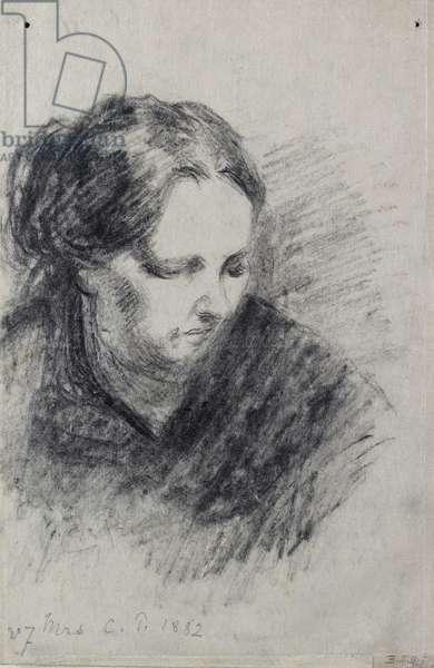 Portrait of Madame Pissarro, 1882 (black chalk)