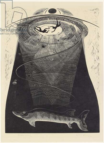 Undercurrents, 1938 (wood engraving)