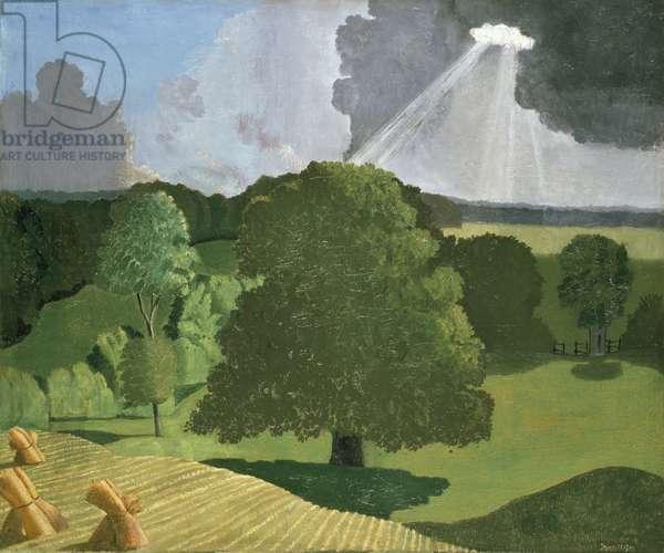 A Gloucestershire Landscape, 1914 (oil on canvas)