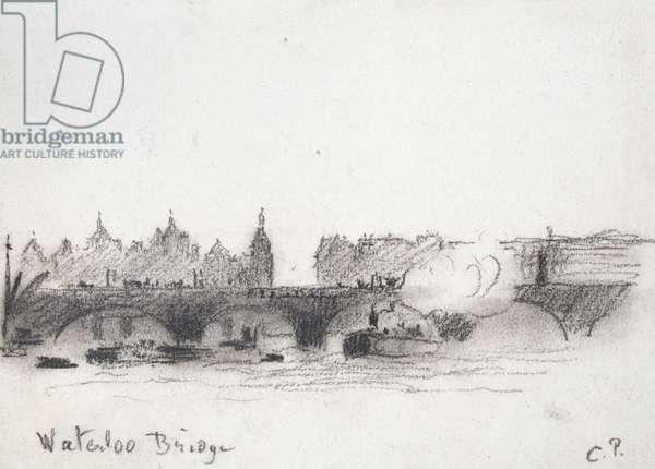 Study of Waterloo Bridge (charcoal)