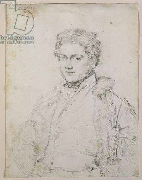 Portrait of Charles Robert Cockerell, 1817 (graphite on paper)