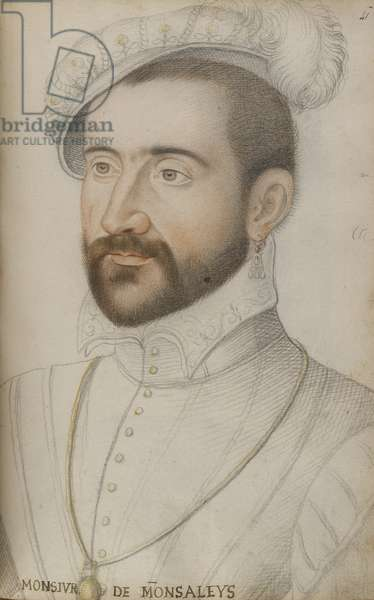 Jacques de Balaguier (black, red and yellow chalks on paper)