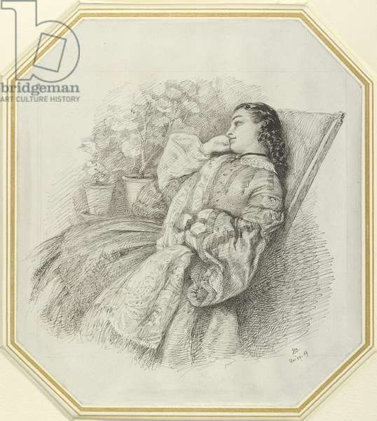 Georgina Hannay, 1859 (pen and black ink on white paper)