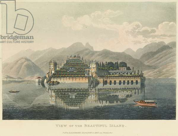 View of the Beautiful Island (Isola Bella, Lago Maggiore), before 1820 (w/c over etching and aquatint on wove paper)