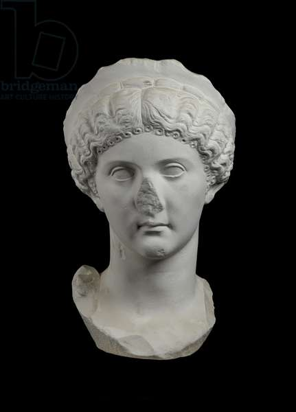 Cast of portrait of a woman, Italy, original dated AD 30-60 (plaster)