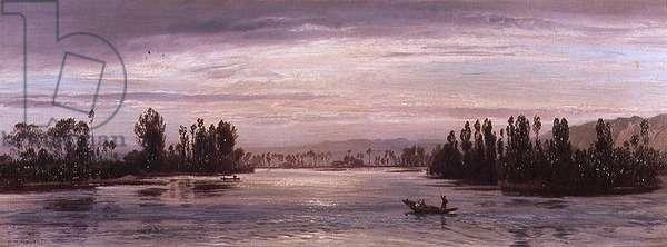 On the Seine Near Les Andelys, 1871 (oil on canvas)