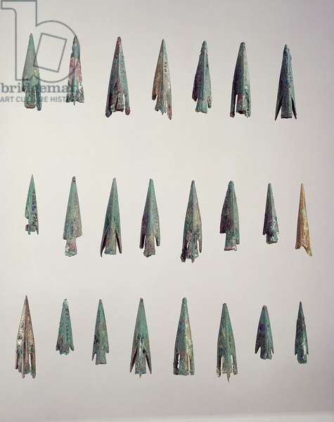 Arrowheads, from a grave at Nymphaeum (bronze)